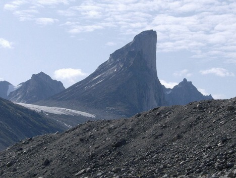 Mt Thor, Baffin Island, Canada.  Steepest vertical drop on earth:  4100 feet.
